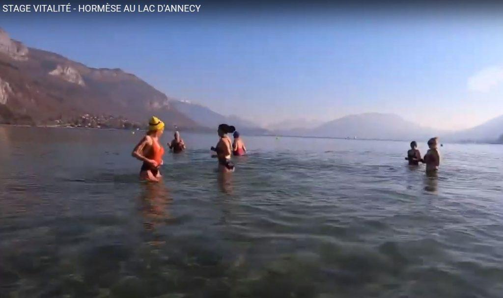 Atelier hormèse au lac d'Annecy